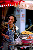 Egg noodle vendor
